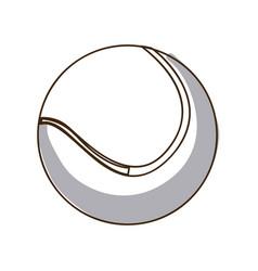 monochrome silhouette tennis ball element sport vector image vector image