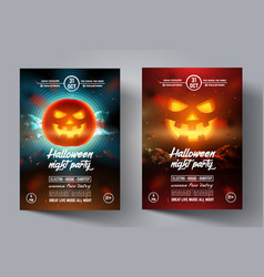 mystical party flyer happy halloween template vector image vector image