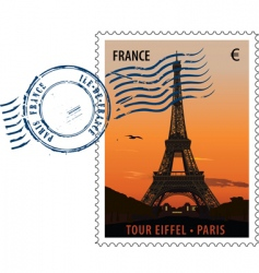 postmark stamp France vector image