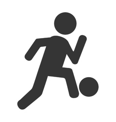soccer player football icon vector image vector image