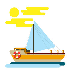 Summer vacation and sea cruise travel vector