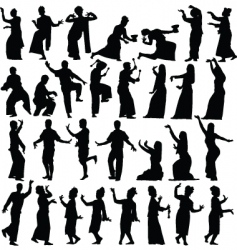 Thai dancers vector