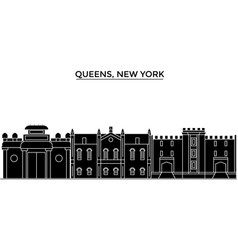 usa queens new york architecture city vector image vector image