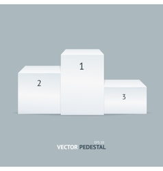 white pedestal vector image vector image