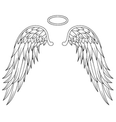 Wings angel tattoo design vector