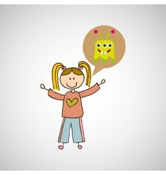 Child with toy icon vector