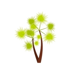 Prickly palm icon flat style vector