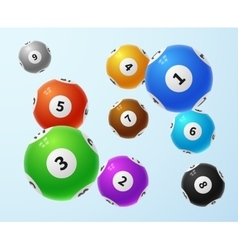 Lottery balls sports lotto game concept vector