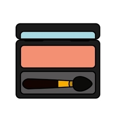 Shadow make-up product isolated icon vector