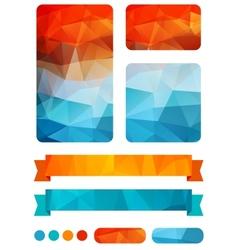 Set of colorful design elements vector image