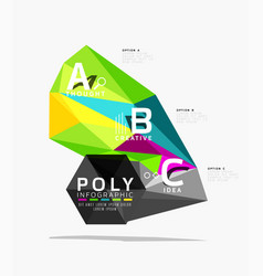 triangle modern info banner vector image