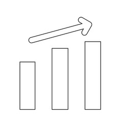 Growth chart the black color icon vector