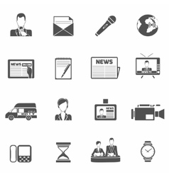 News icons black vector