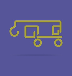 Linear crane truck icon vector