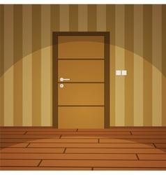 Room with door - yellow vector