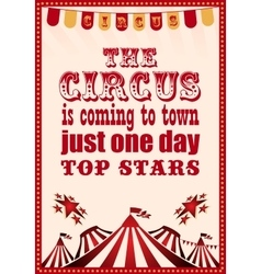 Circus vintage poster for your design vector