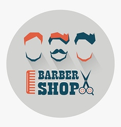 Barber shop emblem vector