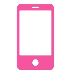 Smartphone flat pink color icon vector image