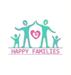 Family label and emblem vector