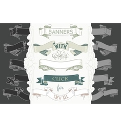 Hand drawing banners in color for your design vector
