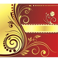 Abstract royal floral design vector