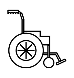 Wheelchair icon outline style vector