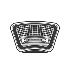 Radio icon retro technology design vector