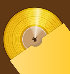 Golden CD prize vector image