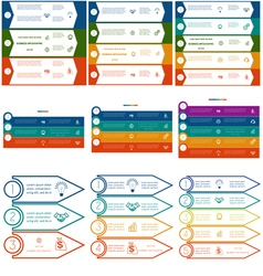 Infographics cyclic processes 9 templates vector