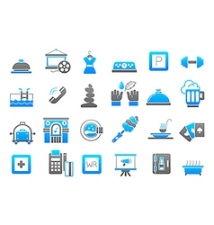 Entertainment gray blue icons set vector