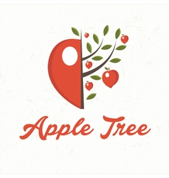 Apple tree with apple fruit vector