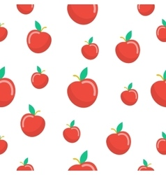 Apples Fruit Seamless Pattern vector image