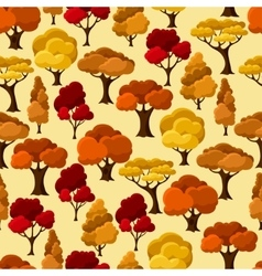 Autumn seamless pattern with abstract stylized vector image vector image