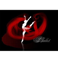 Ballet background vector