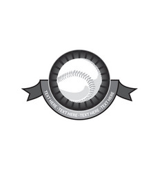 Baseball emblem retro vector
