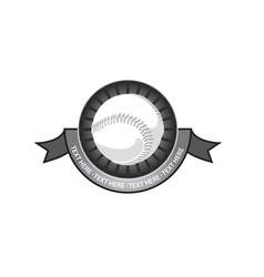 baseball emblem retro vector image vector image