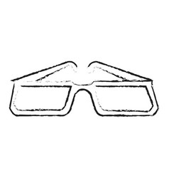 Blurred silhouette image glasses with modern vector