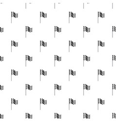Chequered flag pattern vector