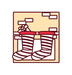 christmas boot vector image