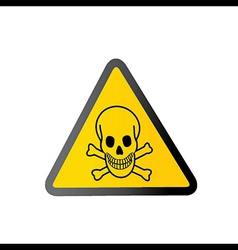 Danger sign with skull symbol vector