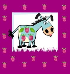 fruity donkey vector image vector image