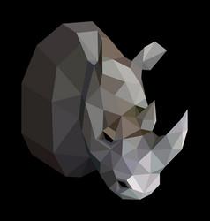 geometric colored rhinoceros vector image vector image