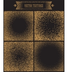 Gradient background with golden dots dotwork vector