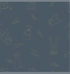 hand drawn seamless pattern with clothes vector image vector image