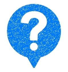 Help balloon grainy texture icon vector