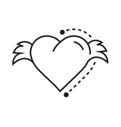 icon hearts wings vector image