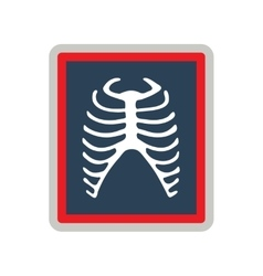 Icon of x-rays of ribs in flat style vector