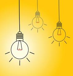 Idea light buble on yellow vector