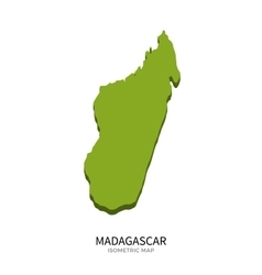 Isometric map of Madagascar detailed vector image vector image