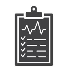 medical clipboard glyph icon medicine vector image